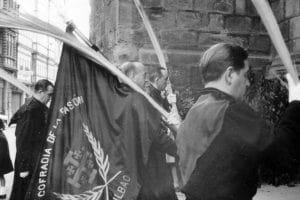 Le drapeau de la Confrérie de la Passion. 1964